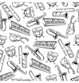 Musical instruments seamless pattern background vector image vector image