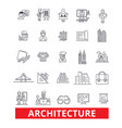 architecture buildingconstruction design plans vector image