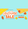 autumn sale fashionable banner template vector image