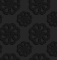Black textured plastic flowers with rim vector image