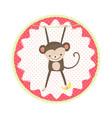cat badge vector image