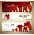 Christmas Ribbon Banners vector image