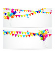 Colored Balloons Card Banner Background vector image