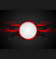 Dark red technology background vector image