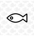 Fish black simple icon vector image
