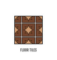 floor tiles flat icon object vector image