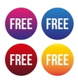 Free button for web set vector image
