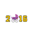 happy new year baby 2016 color vector image