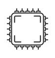 Microchip line icon vector image
