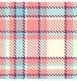 Seamless plaid fabric vector image