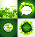 set of st patricks holiday background vector image
