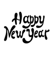 sketch happy new year hand lettering vector image