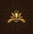 Vintage logo beer Brewery Sign design poster vector image