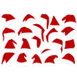 Christmas hats set vector image vector image