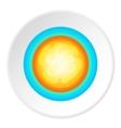 Sun in sky icon cartoon style vector image