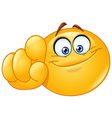 pointing at you emoticon vector image vector image