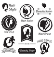 Set of badges and emblems for beauty or vector image vector image