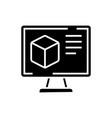 computer design icon black vector image