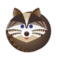 Head of raccoon decorative geometric stylization vector image