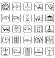 Logistics contour icons vector image