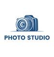 logo for photographer logo design vector image