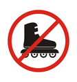 no roller skates sign icon rollerblades symbol vector image
