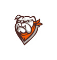 Angry Bulldog Wearing Neckerchief Retro vector image