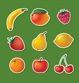 stickers of different fruits vector image