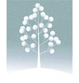 Cartoon lonely tree vector image vector image