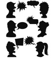 people talking vector image vector image