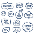 Outline phrases collection vector image vector image
