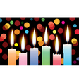 candles with lights vector image vector image