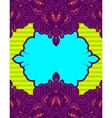 bright lace label template vector image
