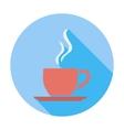 Cafe flat single icon vector image