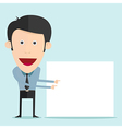 cartoon holding blank board vector image
