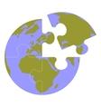 Earth globe set 013 vector image