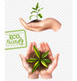 eco friendly ecology concept vector image
