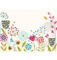 Floral spring design vector image