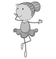 Girl doing ballet dancing vector image