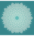 Mandala Beautiful hand drawn flower vector image