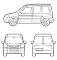outline minivan vector image