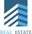 real estate architecture icon vector image