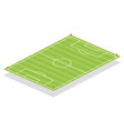 soccer field perspective elements vector image