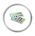 Watercolor paint icon in cartoon style isolated on vector image