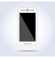 White phone on white background vector image