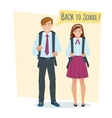 couple of students girl and boy vector image