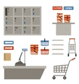 Supermarket equipment vector image