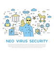 digital color internet security vector image