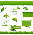 ecology green set vector image