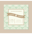 wedding vintage card vector image vector image